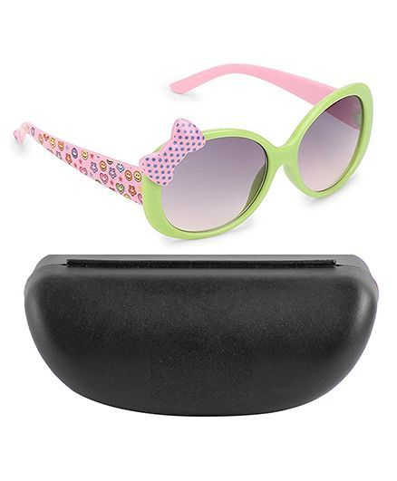 Kidofash Polka Dot Bow Design Sunglasses - Green