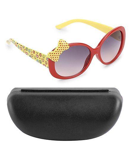 Kidofash Polka Dot Bow Design Sunglasses - Red