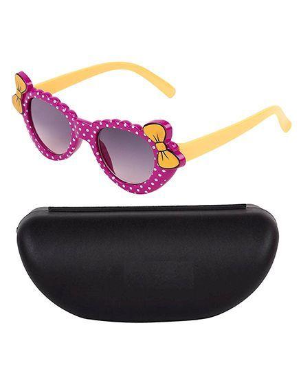 Kidofash Smart Bow Design Sunglasses - Dark Pink