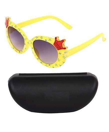 Kidofash Crown Design Sunglasses - Yellow