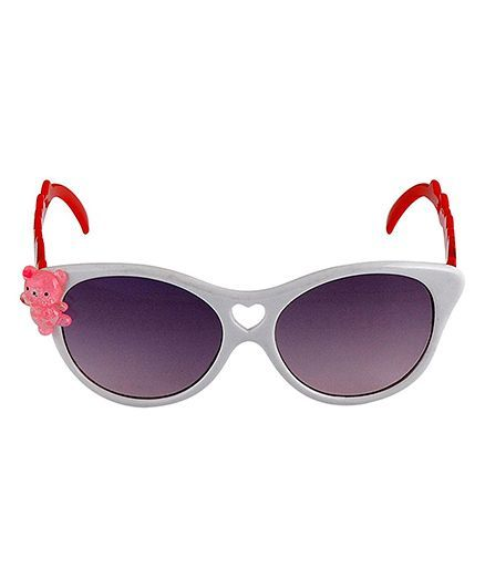 Kidofash Teddy Design Sunglasses - White