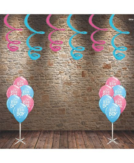Party Propz Baby Shower Decoration Set Pink Blue 37 Pieces