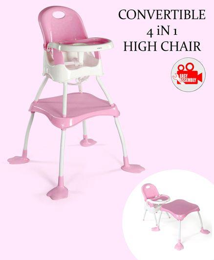 Babyhug Urban 4 in 1 High Chair - Pink