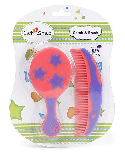 1st Step BPA Free Comb And Brush Set - Royal Blue Pink