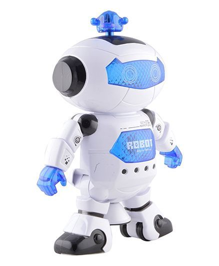 toyshine dancing robot with 3d lights and music blue white online