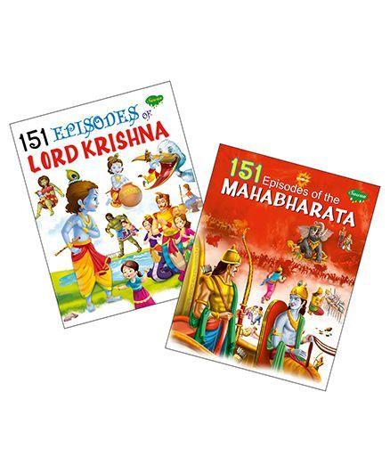 Sawan Story Book 151 Series Krishna Mahabharata Set Of 2 English