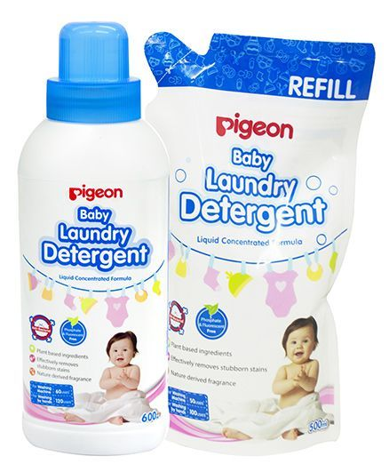 Pigeon Liquid Laundry Detergent Bottle With refill Pack - 600 ml & 500 ml