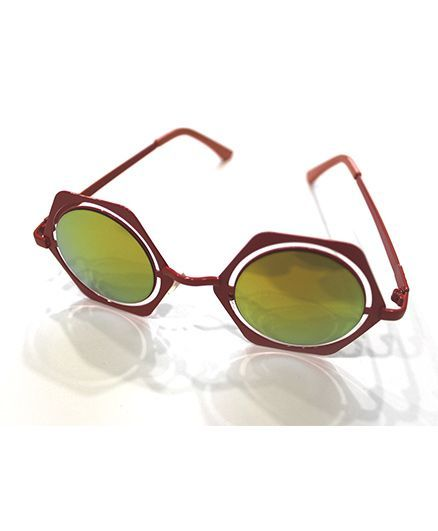 Lilpicks Couture Round With Shape Sunglasses - Red