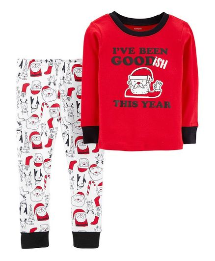 Buy Carters 2Piece Christmas Snug Fit Cotton PJs Red White for Boys ... e9a2f0cc7