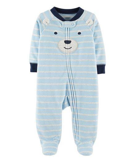 f90a33f8e Buy Carters Bear ZipUp Fleece Sleep   Play Blue for Boys (3-6 ...