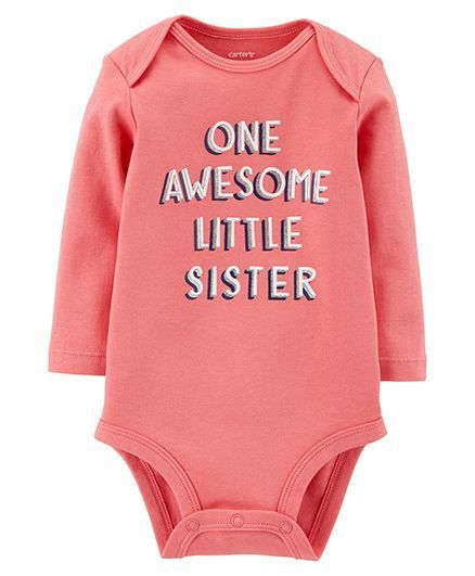 84aa24019 Buy Carters Full Sleeves Awesome Little Sister Collectible Bodysuit ...