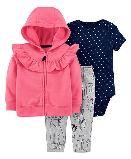 33344bc00 Buy Carters 3Piece Little Jacket Set Pink for Girls (12-18 Months ...