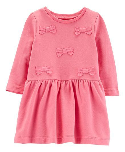 Buy Carters Bow French Terry Dress Pink for Girls (2-3 Years) Online ... fe96608bb8a6