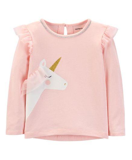 c3b7e8b97 Buy Carters Glitter Unicorn HiLo Matchtastic Top Pink for Girls (3-4 ...