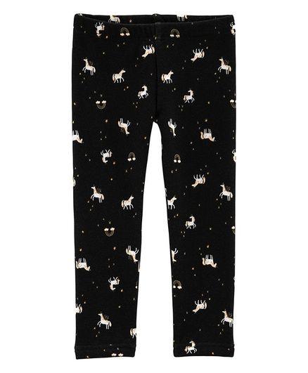 ec9b2b616 Buy Carters Unicorn Cosy Fleece Leggings Black for Girls (9-12 ...