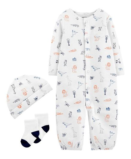 83ee6a8b4d43 Buy Carters 3Piece Babysoft TakeMeHome Set White for Boys (3-6 ...