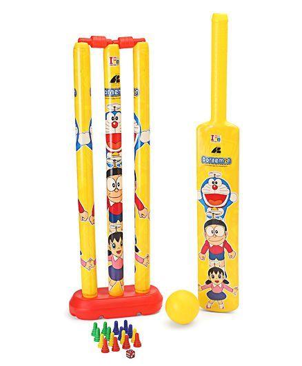 Doraemon Big Cricket Set - Yellow