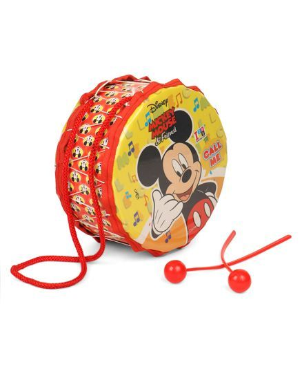 Disney Small Toy Drum Set Mickey Mouse (Color & Print May Vary)
