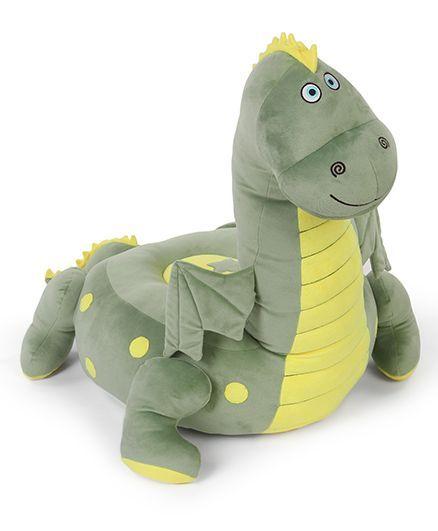 Benny & Bunny Dinosaur Sofa Seat - Green  & Yellow
