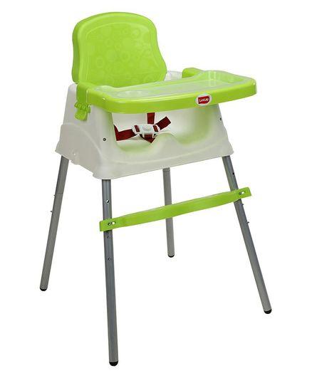 LuvLap 4 in 1 Convertible High Chair Cum Booster Seat - Green