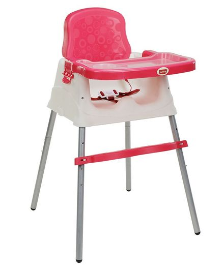 LuvLap 4 in 1 Convertible High Chair Cum Booster Seat - Pink