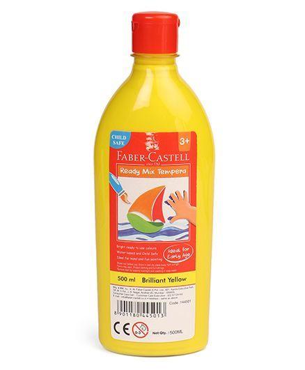 Faber Castell Ready Mix Tempera Paint Bottle Brilliant Yellow - 500 ml