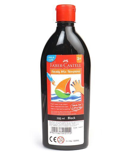 Faber Castell Ready Mix Tempera Paint Bottle Black - 500 ml