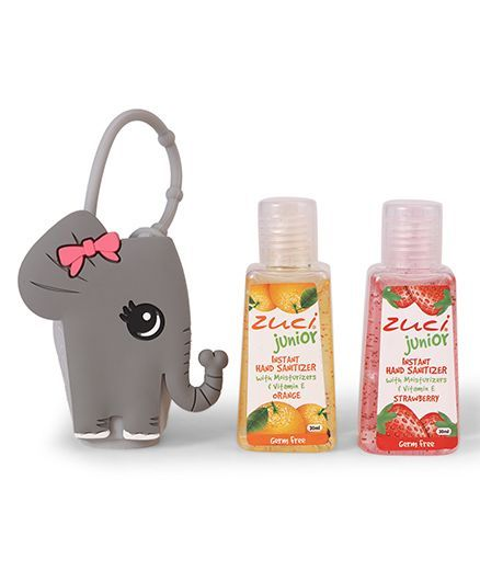 Zuci Instant Junior Hand Sanitizers With Elephant Bag Pack of 2 - 30 ml (Flavours May Vary)