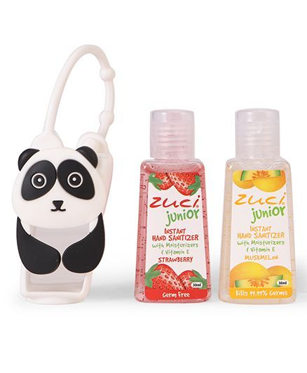 Zuci Instant Junior Hand Sanitizers With Panda Bag Pack of 2 - 30 ml (Flavours May Vary)