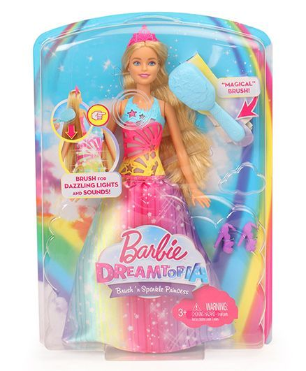 Barbie Dreamtopia Brush N Sparkle Princess Doll Pink Online India ... f257ed905a