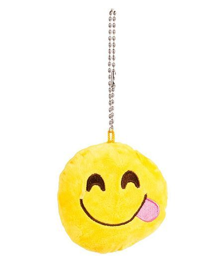 The Crazy Me Emoji Tongue Key Chain - Yellow