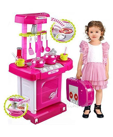 Toyshine Battery Operated Kitchen Set Pink Online India Buy Pretend