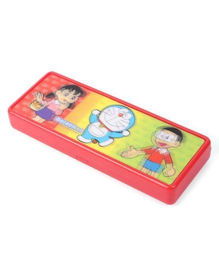 Doraemon 3 D Lenticular Pencil Box - Red