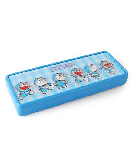 Doraemon 3 D Lenticular Pencil Box - Blue