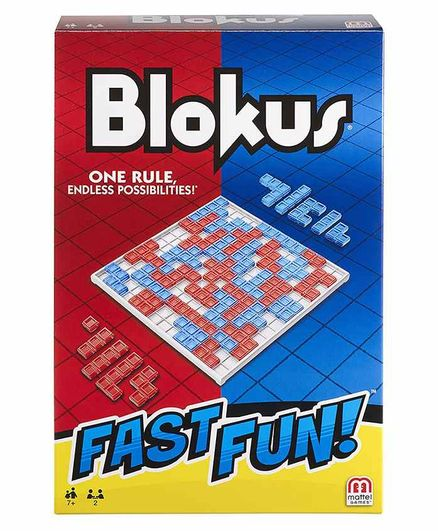 Mattel Blokus Fast Fun Board Game - Multicolour