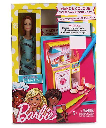 Barbie diy kitchen kit with doll multicolour online india buy dolls barbie diy kitchen kit with doll multicolour solutioingenieria Choice Image