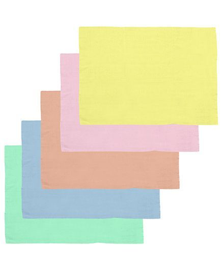 Lula Reusable Muslin Square Napkins Pack of 5 - Multicolor