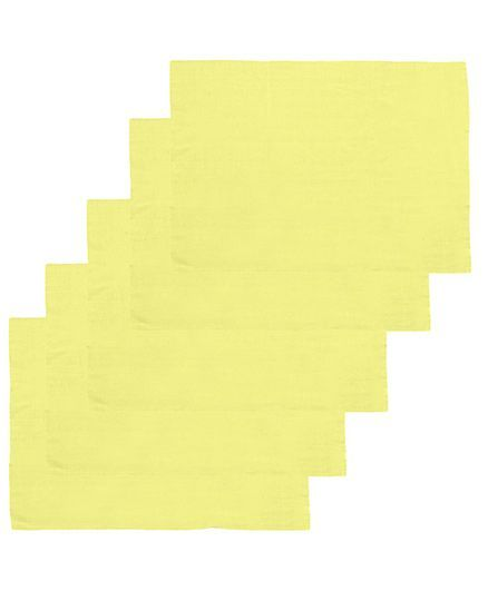 Lula Reusable Muslin Square Napkins Pack of 5 - Yellow