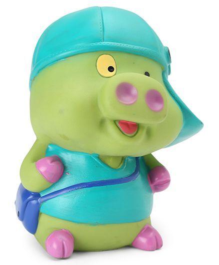 Speedage Captain Pig Money Bank - Green