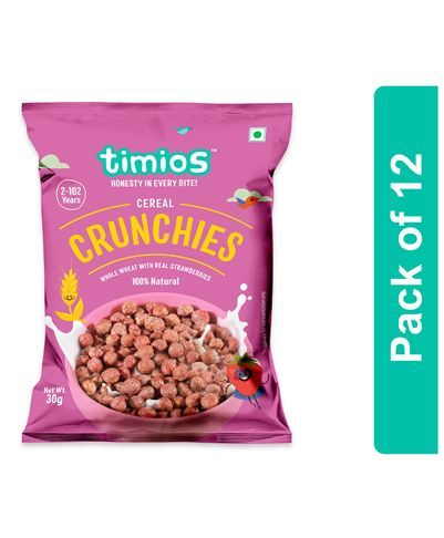 Timios Crunchies Breakfast Cereals Pouch Pack of 8 - 30 gm each