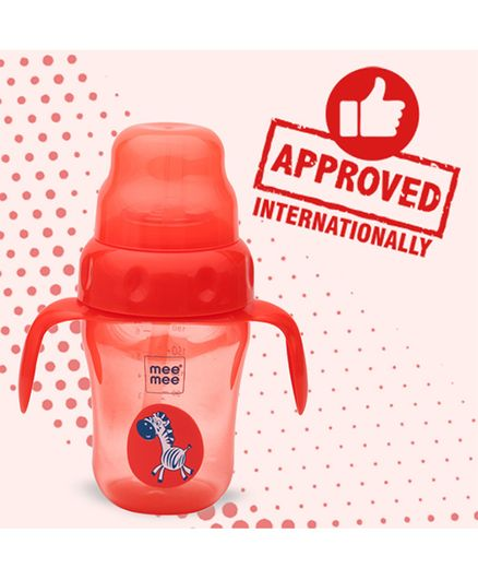 Mee Mee 2 in 1 Sprout & Straw Sipper Cup Dark Red - 210 ml