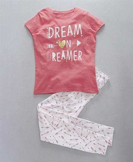 Ventra Dreamer Print Nightwear Set - Pink