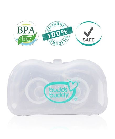 Buddsbuddy Silicone Nipple Shield With Case - White