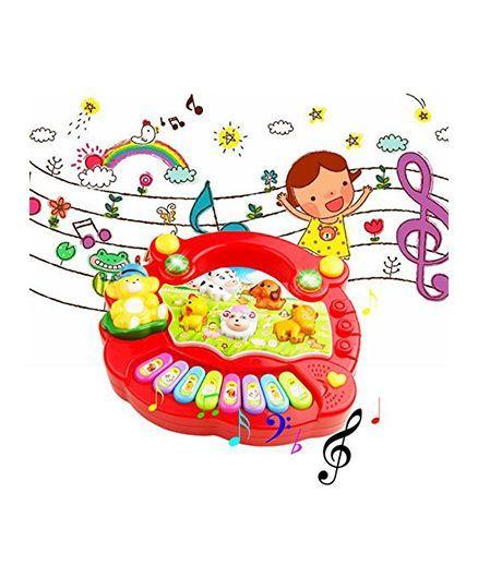VibgyorVibes Light & Sound Piano Toy (Color May Vary)
