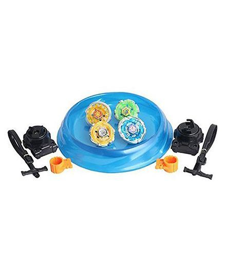 VibgyorVibes Metal Beyblade Toy With Stadium & Two Launcher (Color May Vary)