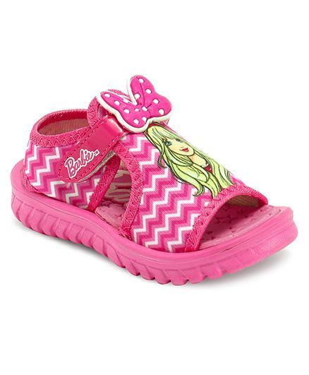 Barbie Sandals With Bow Applique - Pink