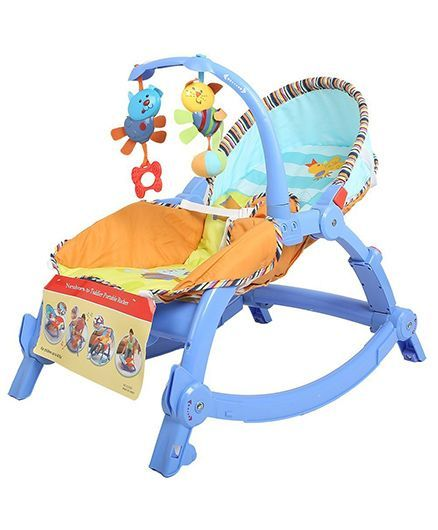Flyers Bay Infant To Toddler Rocker - Blue