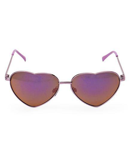 Fox Baby Heart Shape Sunglasses - Purple