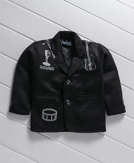 Enfance Full Sleeves Printed Blazer - Black