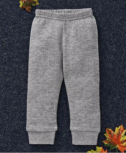 Babyhug Full Length Thermal Leggings - Light Grey